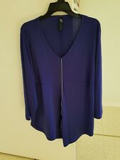 TAKING SHAPE Blue TOP Size L (22) Zipper Detail Assymetrical