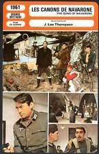 LES CANONS DE NAVARONE - Niven,Peck,Quinn (Fiche Cinéma) 1961 - Guns Of Navarone