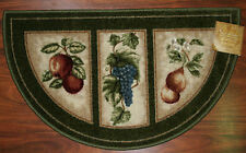 19X32 Slice Wedge Kitchen Rug Mat Green Washable Mats Rugs Fruit Grapes Pears