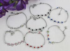 7PCS Mixed Colours Rhinestone Square stick Bracelets #21955