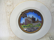 """Vintage Building Memphis State Tennessee Collector Gold Trim 6 1/4"""" Plate"""