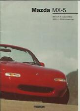 MAZDA MX5 S1.8i AND 1.8iS CONVERTIBLE SALES BROCHURE MAY 1994