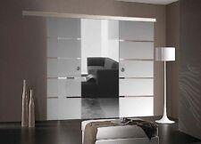 Doppelflügelige Glasschiebetür Glas Schiebetür 2x775x2050mm BP1775-SS+DPL