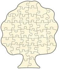 Blanko Holz-Puzzle Baum, 40 Teile, 20x23,5 cm, zum Selbst Bemalen und Gestalten