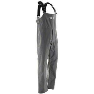 NEW MENS HUK GRAND BANKS CHARCOAL GRAY BIB FISHING WATERPROOF H4000017 SIZE XL