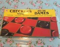 Rare 1989 Golden Checkers Vintage Board Boxed Game Set With Instruction #470b