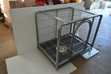 """New listing Top-grade Big Size 44"""" Dog Cage,Movable,Iron Material,for Large&Medium Dogs Us"""