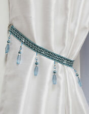 Crystal Beaded Curtain Tie Back -Matching Swags Available- Tiebacks & Holdbacks