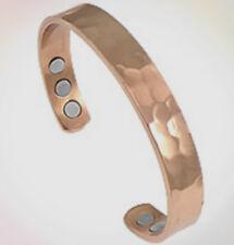 Magnetic Bracelet Hammered Copper Ladies Men Bangle Healing Arthritis Pain Cuff