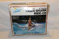 "NEW Vintage Intex Inflatable Tiger Shark Shark Jumbo Ride-on 95"" Factory Sealed"