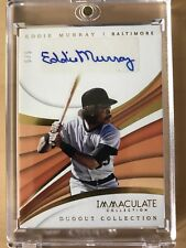 EDDIE MURRAY 2018 IMMACULATE 5/5 AUTO SSP ORIOLES DUGOUT COLLECTION