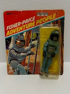 "ALPHA PILOT - FISHER-PRICE ADVENTURE PEOPLE - 3 3/4"" figure 1983 MOC RARE"