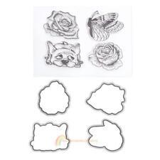 Silicone Clear Stamp Metal Cutting Dies Stencil Frame Scrapbook Craft R1bo