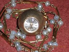 BUCHERER LADIES VINTAGE SWISS ORB (BALL) WATCH PENDANT 17 JEWELS CLASSIC