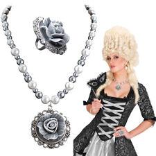 BAROCK ROKOKO SCHMUCK SET Kette Ring Mittelalter Gothic Larp Kostüm Zubehör 7536