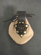 Crimson Chain Tan & Black Spin Lock Sporran Leatherworks Pouch