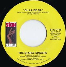 Staple Singers ORIG US 45 Oh la de da EX 1973 Stax STA0156 Wattstack Live Soul