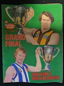 RARE  VFL Football Record 1978 - GRAND FINAL - HAWTHORN v's NTH MELBOURNE