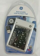 NEW GE Retractable USB Number Key Pad Item #98757 Laptop  Sealed