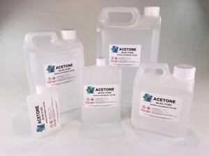 Acetone 99.6% Pure High Quality, Nail Varnish Remover  UV LED Soak Off