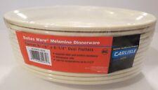 NEW~CARLISLE FOOD SERVICE~DALLAS WARE® MELAMINE~9.25 x 6.25 Oval~12 Platters~NIP