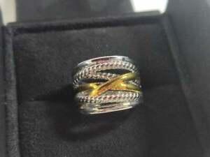 David Yurman Gold Fashion Big X Ring