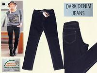 Δ Hose Jeans Damenjeans Stretchjeans Röhre Dark Denim Gr. 36 dunkelblau NEU
