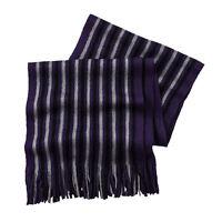 New Van Heusen Raschel Knit Scarf Purple MSRP $32