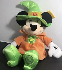 "Disney Store Minnie Mouse Halloween Witch  Plush 15"" Authentic Disney"