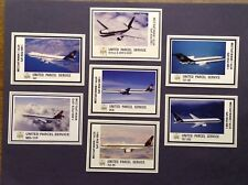 UPS United Parcel Service 7 card set of Fleet Airline Trading cards