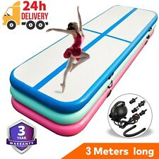 3M Gymnastics Mat Airtrack Inflatable Air Track Tumbling Floor Yoga Gym Exercise