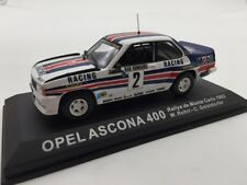 opel ascona 400 rohrl-geistdorfer monte-carlo 82  n38/70 1/43 voitures de rallye