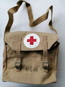 British Army WW2-Style Non-Issue Military Webbing GSM Red Cross Medical Bag