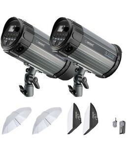 600W Studio Strobe Flash Photography Lighting Kit