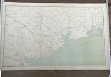 Antique Civil War Map No. 157Topographic Map Of  Texas With Gulf