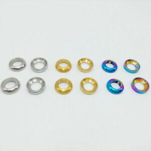 Titanium Alloy Ti M6 Convex Concave Gaskets Washer Shim Pad For Bicycle Brake