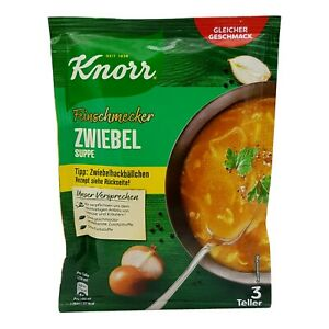 6x Knorr Feinschmecker 🍲 Zwiebel Suppe onion soup ✈TRACKED SHIPPING