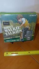 Vintage Sears Mobile Three Walkie Talkies 9 Volt working with box free shipping