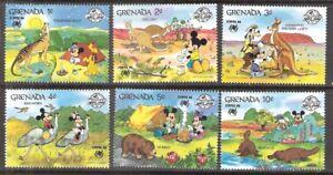 Grenada 1988 Disney Characters in Australia SYDPEX '88 MNH (SC# 1638-1643)