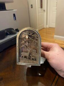 Bath & Body Works Wallflower Diffuser Plug Light Deer Reindeer Winter Gold