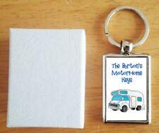 Personalised (WITH YOUR NAME) Motorhome Motor Home Van Keys Metal Keyring Gift