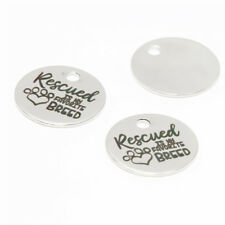 10pcs/lot Proud Rescue Dog Mom charm Rescued is my Favorite Breed pendant 20mm