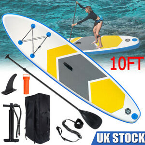 10FT Inflatable Paddle Board SUP Stand Up Surfing Surfboard & Accessories Adults