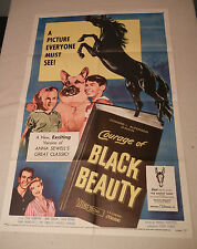 """Courage of Black Beauty ""  Original 1957 One Sheet Movie Poster"