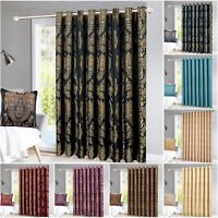 Thermal Door Curtain 66 x 84 Eyelet Ring Top Fully Lined Curtains with Tieback