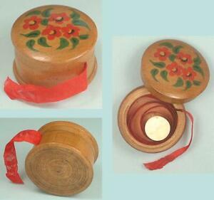 Antique Spa Ware Ribbon Box * Belgian * Circa 1900s