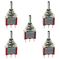 5 x On/Off/On Mini Miniature Toggle Switch Model Railway SPDT