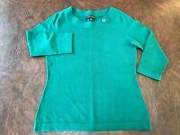 Women's Size S  BANANA REPUBLIC Silk Blend Sweater  Green