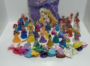 Disney Princess Magiclip Figures Lot Removable Dress Dolls Toys 58pc Magic Clip