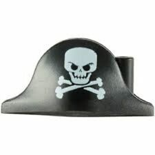 Lego Pirate Hat Bicorne Large Skull Crossbones